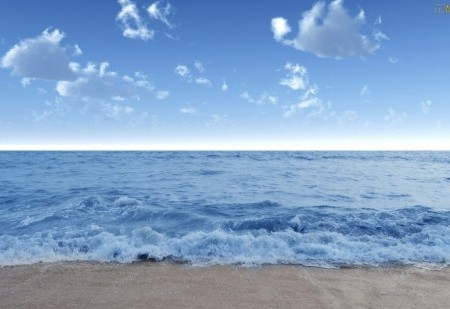 Ritual de limpeza com o mar
