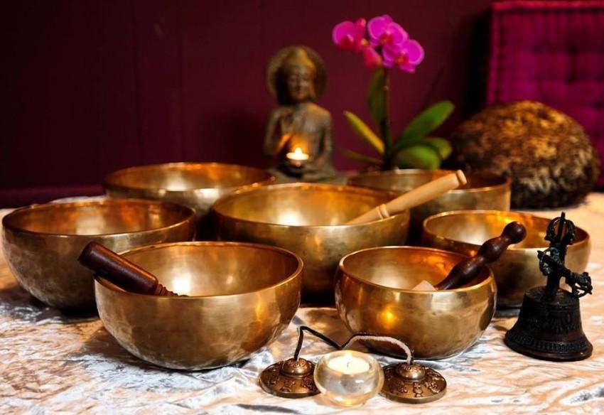 Taças tibetanas - equilíbrio do corpo e da mente